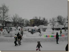 市民雪像エリアの全景
