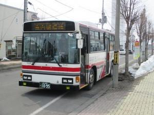 深川駅前に到着した「循環線」バス