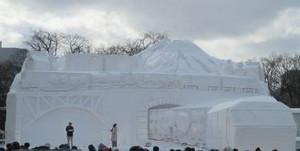 さっぽろ雪まつりの大雪像の写真