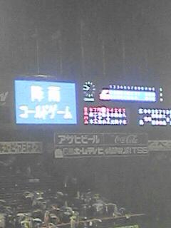 広島戦降雨コールド勝ち