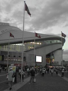 神戸ウイングスタジアム到着