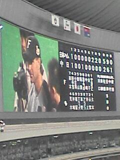 ファイターズ五分で札幌凱旋