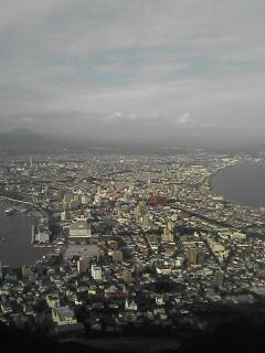 函館山頂上にて