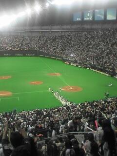 日本シリーズ第2戦試合終了