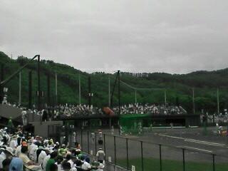芦別市民球場にて
