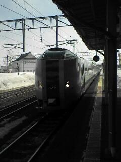 深川駅にて