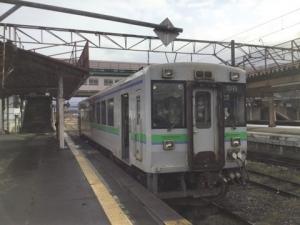 留萌本線列車キハ150の写真