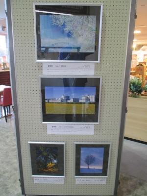 道の駅での写真展示の写真